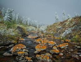 outono nas montanhas foto