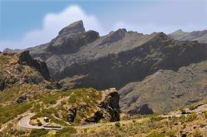 montanhas na ilha de tenerife foto