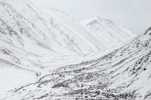 cordilheira de neve