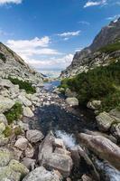 riacho em um vale de montanha