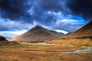 escócia, montanha beinn dorain.