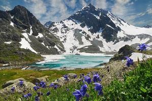 paisagem de verão linda, montanhas altai na rússia.