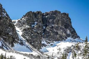 inverno no parque nacional das montanhas rochosas foto