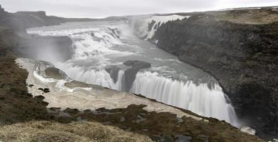 cachoeira gullfoss - islândia foto