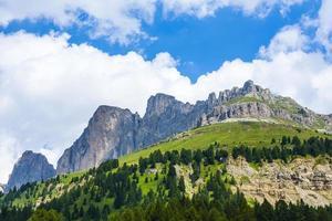 vista para o desfiladeiro de Karer nos Alpes Dolomitas