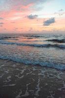 céu oceano rosa azul bebê