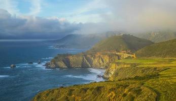 rota 1 colorida da Califórnia - rodovia da costa do Pacífico