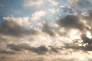 céu nublado
