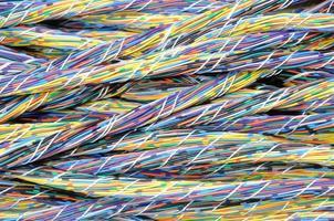cabos coloridos foto