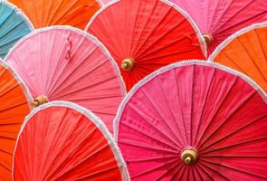 guarda-chuvas de bambu tailandês tradicional