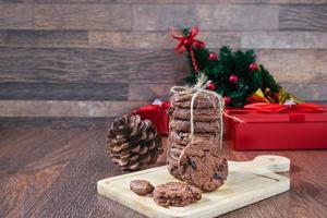 biscoitos e caixas de presente foto