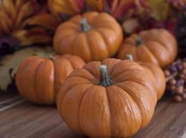 decoração de outono de ação de graças foto