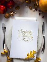 arte feliz dia de ação de graças convite para jantar