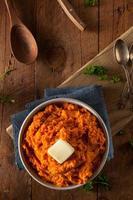 purê de batata doce caseiro orgânico foto