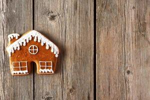 biscoito caseiro de gengibre de natal foto