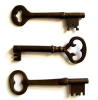 conjunto de 3 chaves de esqueleto antigas