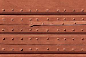 porta do armazém vintage e elemento de metal. foto