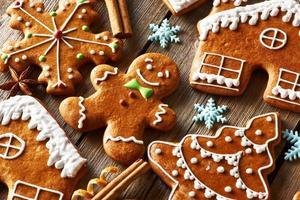 biscoitos de gengibre caseiros de natal