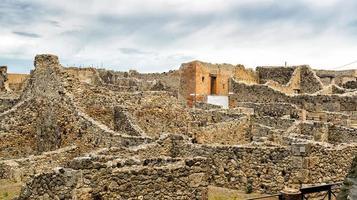 ruínas de pompéia, itália foto