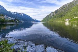 bela paisagem da Noruega foto