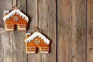 biscoitos caseiros de gengibre de natal foto