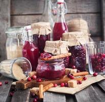 geléia de cranberry caseiro foto
