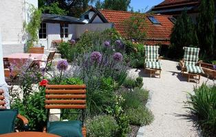 relaxe no jardim foto