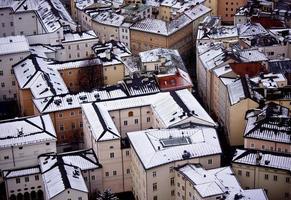 telhados de Salzburg foto