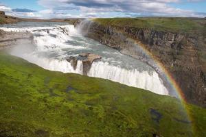 cachoeira gullfoss, islândia foto