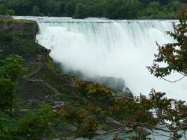 vista única das cachoeiras de niagra