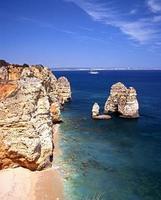 praia e litoral, ponta da piedade, portugal.