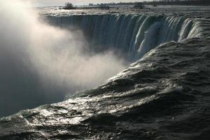 beira da água das cataratas do Niágara
