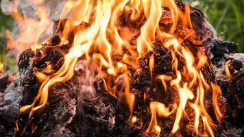 fundo de fogo e chama