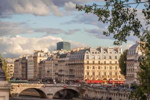 vista de paris e do Sena foto