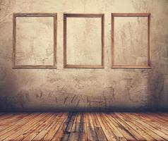 sala com porta-retratos