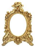 moldura de ouro querubim