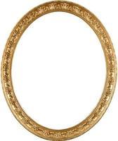 moldura oval dourada