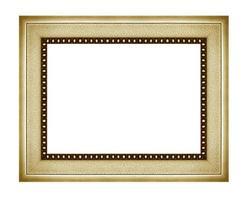 porta-retrato antigo vintage isolado no fundo branco.