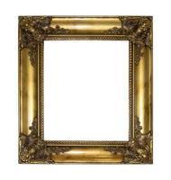 moldura dourada isolada no fundo branco