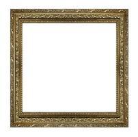 moldura de ouro. isolado no fundo branco