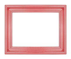 molduras vermelhas. isolado em fundo branco