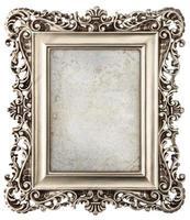 porta-retrato de prata estilo barroco com tela