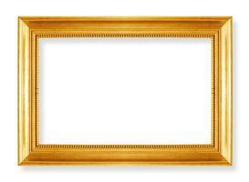 molduras de ouro. isolado em fundo branco