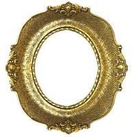 moldura de ouro velho - oval