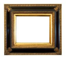 antigo porta-retratos dourado