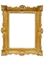 porta-retratos de plástico dourado com caminho