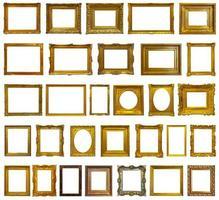 conjunto de 30 molduras douradas