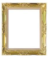 porta-retrato em fundo branco isolado