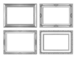 porta-retratos antigos de prata. isolado em fundo branco