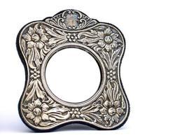 moldura de prata antiga
